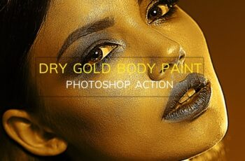 Dry Gold Body Paint-Photoshop Action 3169092 9