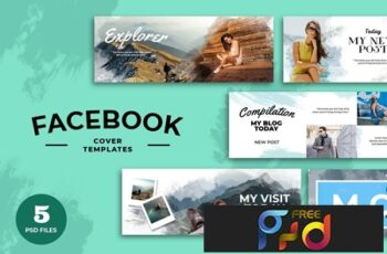 Facebook Cover Water Color Template 7