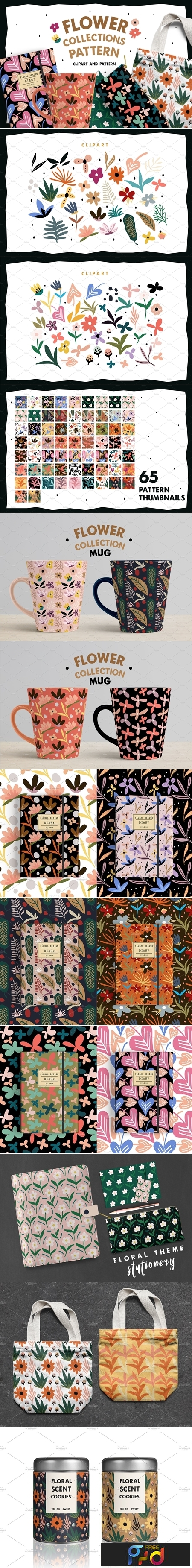 Flower Collections Pattern 3738006 1