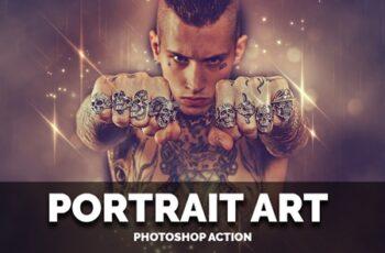 Portrait Art Photoshop Action 3