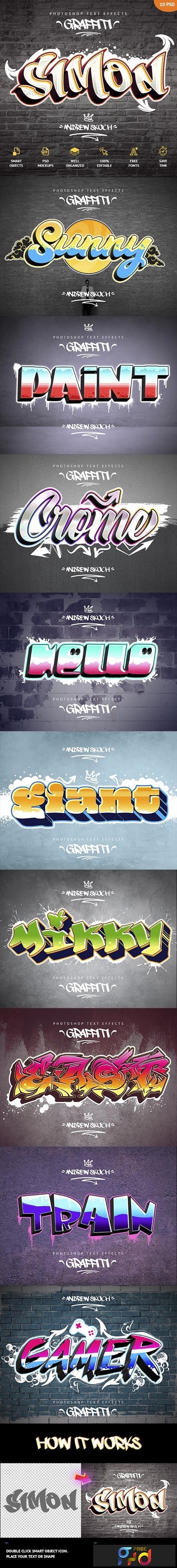 Graffiti Text Effects - 10 PSD 23797200 1
