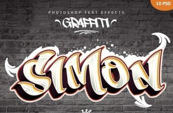 Graffiti Text Effects - 10 PSD 23797200 5