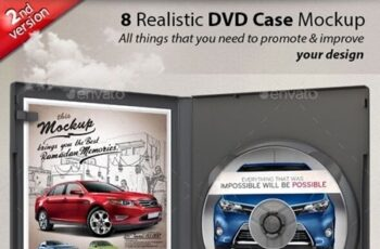 Realistic DVD CD Case Mockup 23803155 7