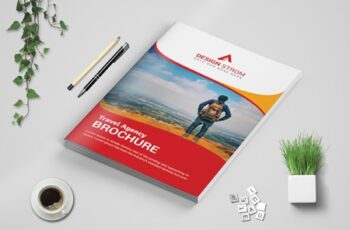 Travel bi fold Brochure template 3571866 4