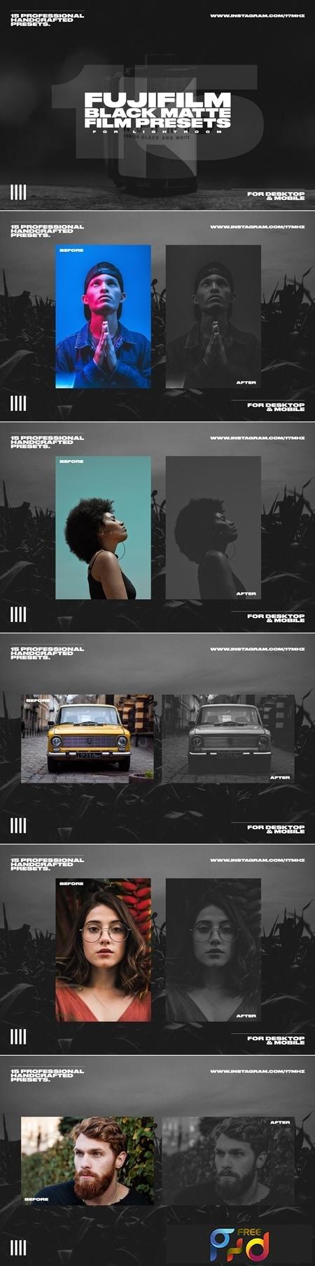 15 Fuji Film Black Matte LR Presets 3750479 1