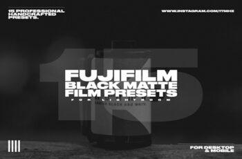 15 Fuji Film Black Matte LR Presets 3750479 2