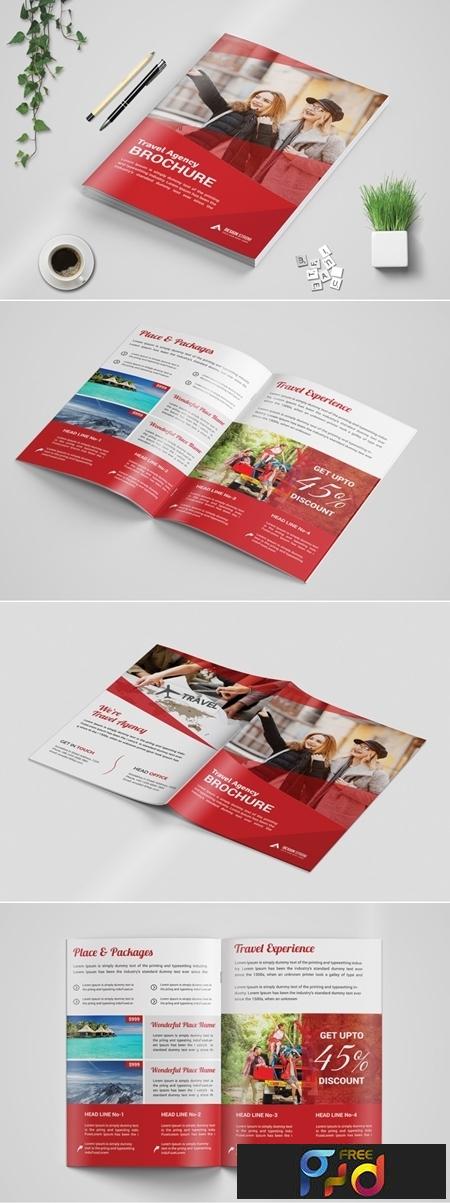Travel Bi Fold Brochure template 3573728 1