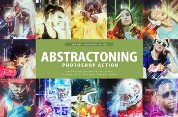 Abstractoning Photoshop Action 3329476 7