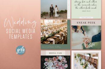 Wedding Social Media Templates 1
