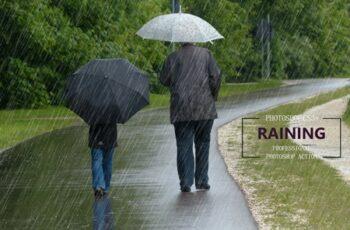 Raining Photoshop Action 3633384 4