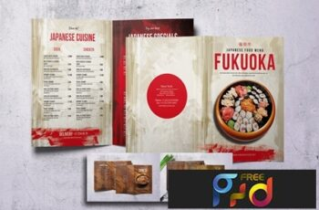 Different Countries Bifold Menu Bundle V4 9