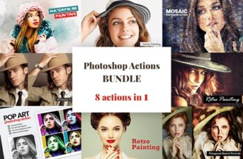 Photoshop Actions Bundle 3756067 6