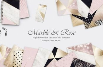 Rose Marble Gold and Navy Blue Textures 1419713 4
