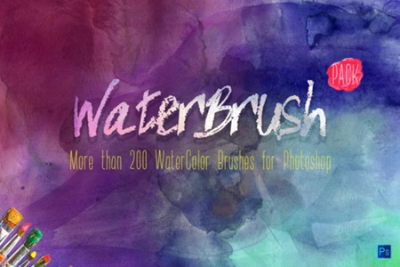 WaterBrush WaterColor Brushes PACK 1419548 - FreePSDvn