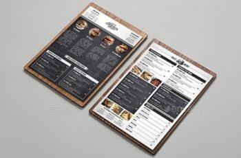 Rustic Burger Menu Card 20654223 11