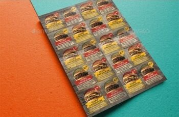 Rustic Fast Food Coupon Flyer 20385621 7