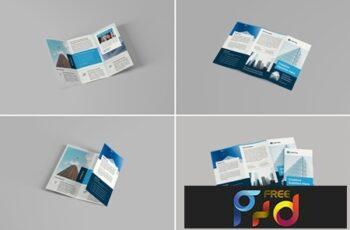 A4 Trifold Brochure Mockups 2