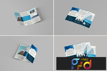 A4 Trifold Brochure Mockups 1