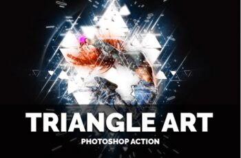 Triangle Art Photoshop Action 10