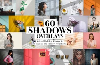 Natural shadows overlays set 3784364 3