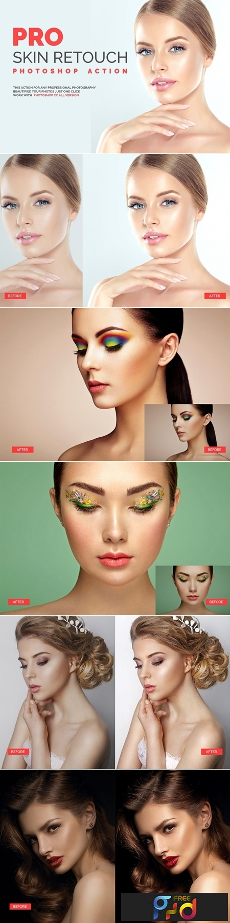 PRO Skin Retouch Photoshop Action 1