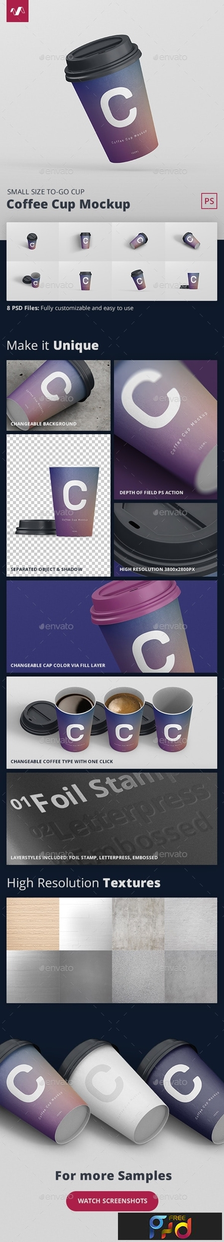 Coffee Cup Mockup Small Size 1