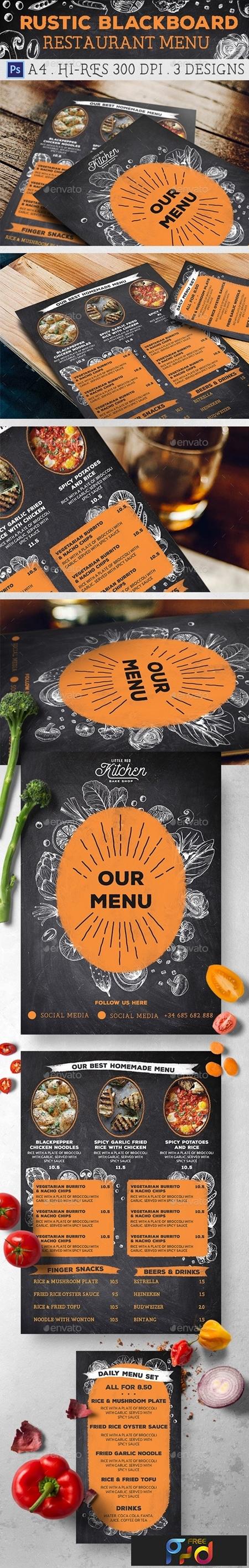Rustic Blackboard Restaurant Menu 21580955 1