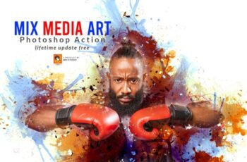 Mix Media Art PS Action 3634383 6