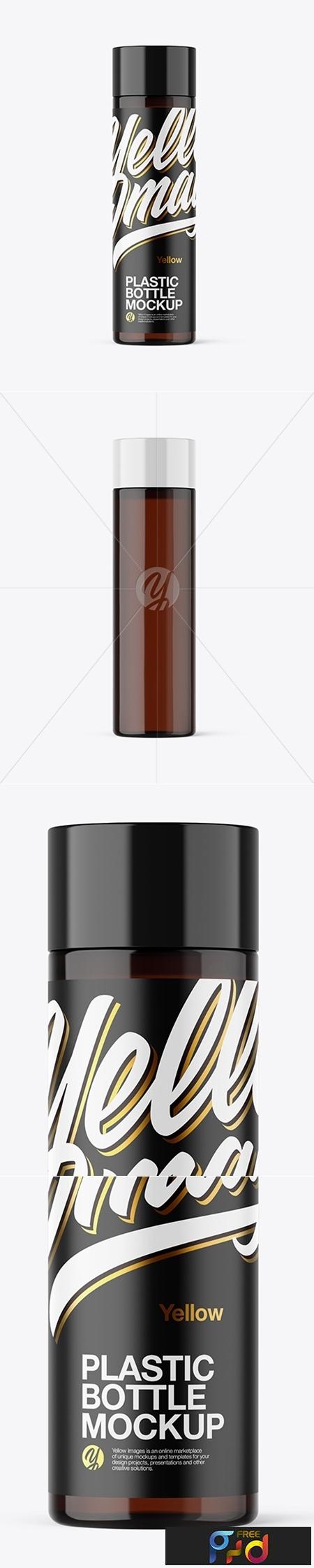 Amber Plastic Bottle Mockup 42748 1