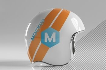 Isolated Motorcycle Helmet on Grey Mockup 267840011 9