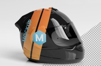 Isolated Motorcycle Helmet on White Mockup 267839919 7