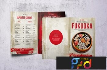 Japanese A4 & US Letter Food Menu V2 4