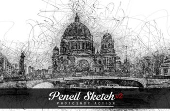 Pencil Sketch V2 Photoshop Action 4