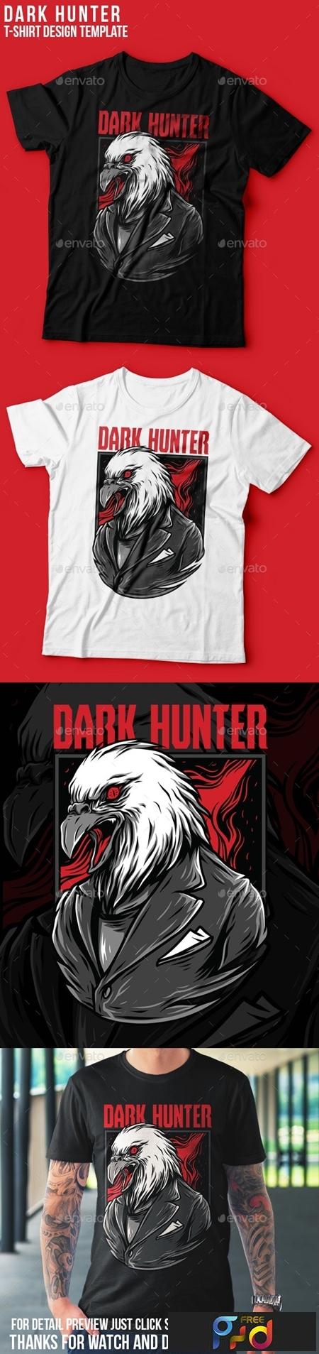 Dark Hunter T-Shirt Design 23843101 1