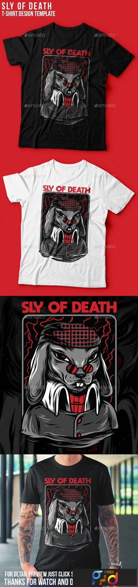 Sly of Death T-Shirt Design 23843095 1