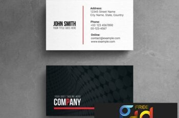 Corporate Business Card Layout with Photograph Element and Red Accents 264617906 3