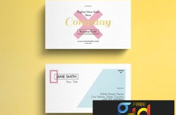Geometric Pastel Business Card Layout with Gold Accent 264617863 9
