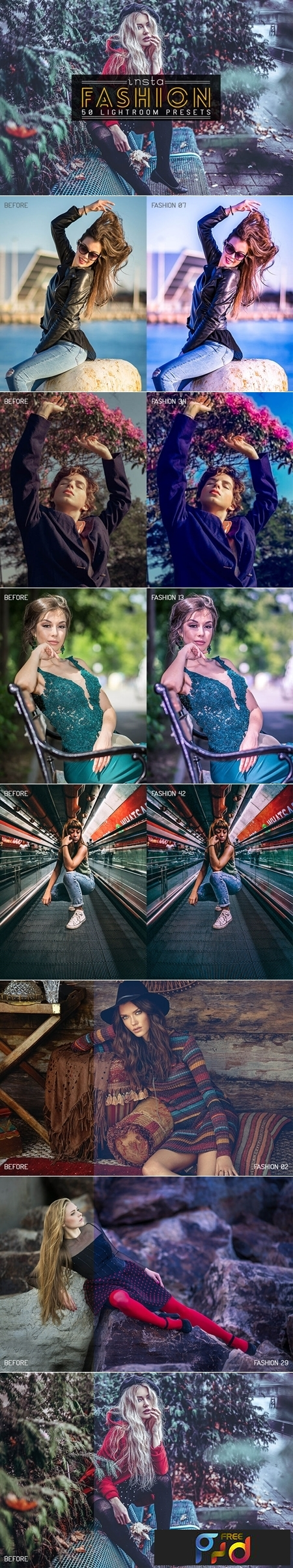 50 Insta Fashion Lightroom Presets 1