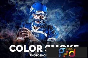 Color Smoke Photoshop Action 1
