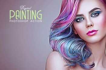 Digital Painting Photoshop Action 1