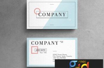 Minimalist Geometric Pastel Business Card Layout 264617865 2