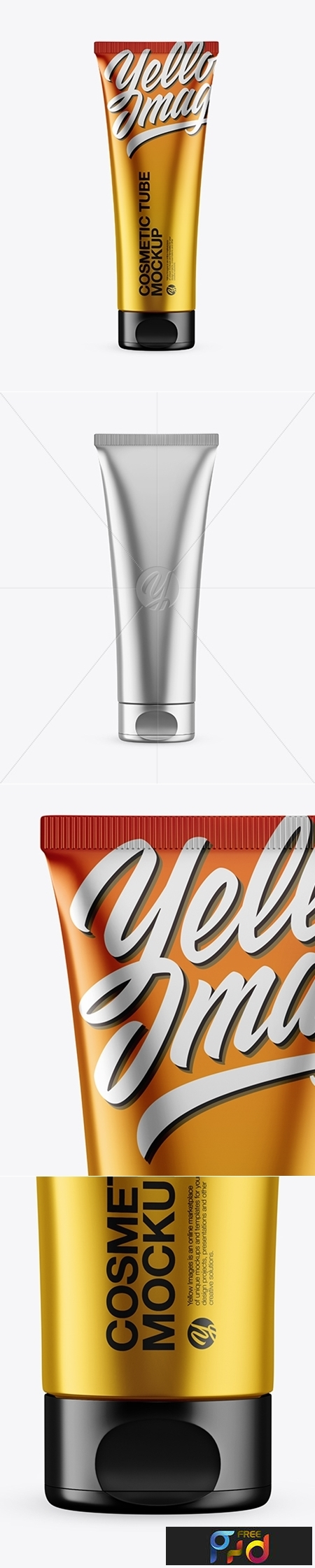 Metallic Cosmetic Tube Mockup 43385 1
