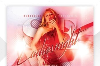 Ladies Night Flyer Template 23835741 6