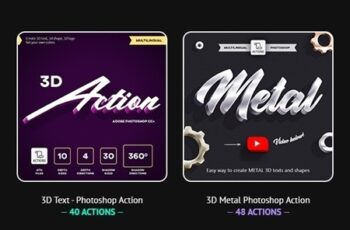 3D Bundle - Photoshop Actions - Multilingual 23837903 5