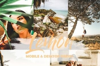 5 Mobile and Desktop Lightroom Presets Lemon 23856162 2
