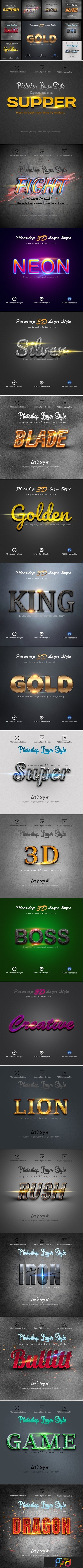 3D Bundle Photoshop Layer Style 3818287 1