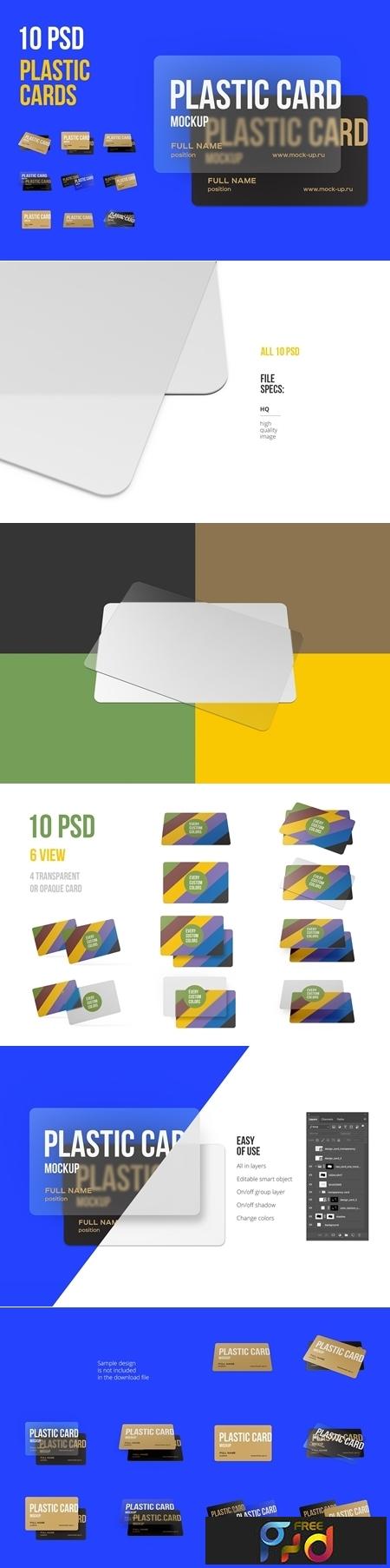 10 PSD Plastic Card mockup 3812972 1