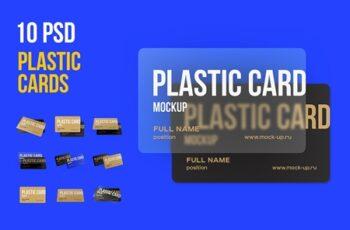 10 PSD Plastic Card mockup 3812972 4