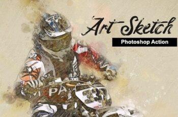 Amazing Art Sketch Photoshop Action 23698629 3