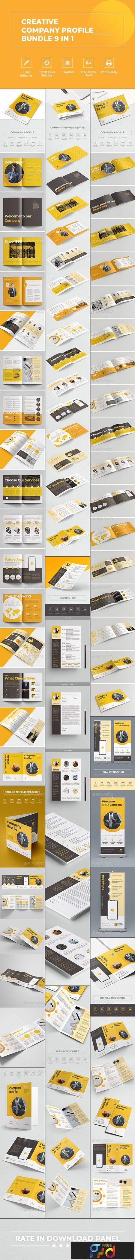 Creative Company Profile Bundle 9 in 1 23702556 1